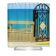 Beach Gate Shower Curtain