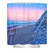 Beach Ghost Shower Curtain