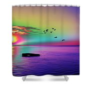 Beach Girl 3 Shower Curtain