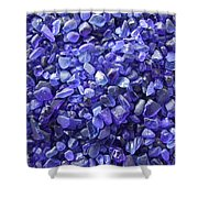 Beach Glass - Blue Shower Curtain
