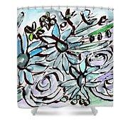 Beach Glass Flowers 2- Art By Linda Woods Shower Curtain