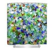 Beach Glass Shower Curtain