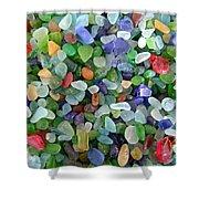 Beach Glass Mix Shower Curtain