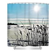 Beach Glow Shower Curtain