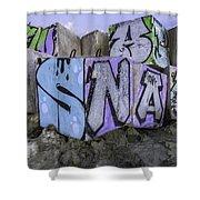 Beach Graffiti  Shower Curtain