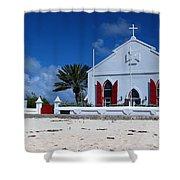 Beach Grand Turk Church Shower Curtain