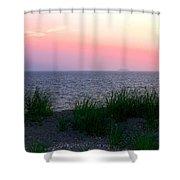 Beach Grass On Long Island Sound Shower Curtain