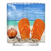 Beach Halloween  Shower Curtain