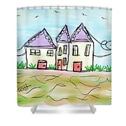 Beach Homes Shower Curtain