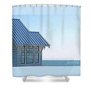 Beach House Blues Shower Curtain