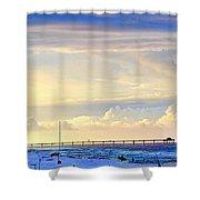 Beach House Window Shower Curtain