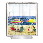 Beach House Window Shower Curtain
