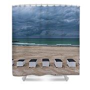 Beach Houses On North Sea Shower Curtain