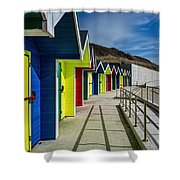 Beach Huts At Barry Island Shower Curtain