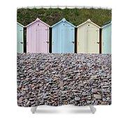 Beach Huts X Shower Curtain