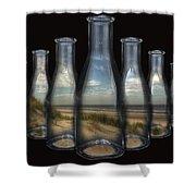 Beach In Bottles Shower Curtain