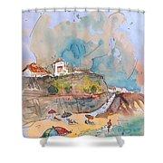 Beach In Ericeira In Portugal Shower Curtain