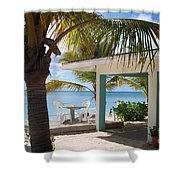 Beach In Grand Turk Shower Curtain