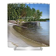 Beach In Muskoka Shower Curtain