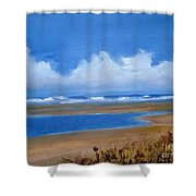 Beach In Norfolk, England Shower Curtain