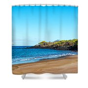 Beach In The Galapagos Shower Curtain