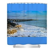 Beach La Tranche Sur Mer Shower Curtain