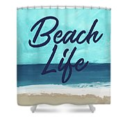 Beach Life- Art By Linda Woods Shower Curtain