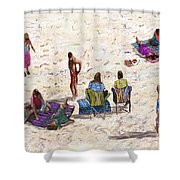 Beach Life Cornwall Shower Curtain