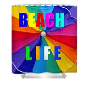 Beach Life Smart Phone Work A Shower Curtain