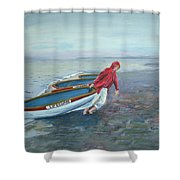 Beach Lifeguard Shower Curtain