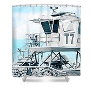Beach Lifeguard Tower Shower Curtain