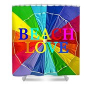 Beach Love Umbrella Spca Shower Curtain