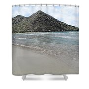 Beach Mountain Clouds Shower Curtain