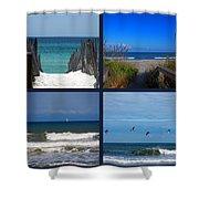 Beach Multiples Shower Curtain by Susanne Van Hulst