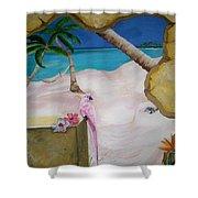 Beach Mural Shower Curtain
