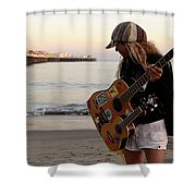 Beach Musician Shower Curtain