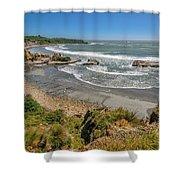Beach Near Cape Foulwind Shower Curtain