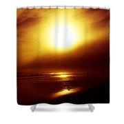 Beach Night Light.. Shower Curtain