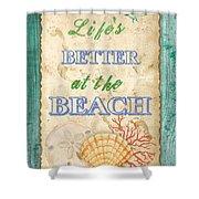 Beach Notes-jp3761 Shower Curtain