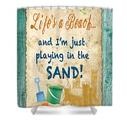 Beach Notes-jp3762 Shower Curtain