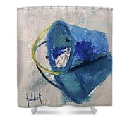 Beach Pail Pal Shower Curtain