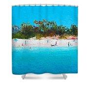 Beach Painting All Summer Long Shower Curtain