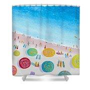 Beach Painting - Beach Bliss Shower Curtain