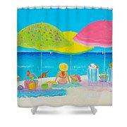 Beach Painting - Beach Life Shower Curtain