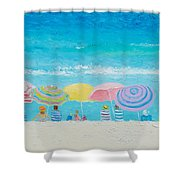 Beach Painting - Color Of Summer Shower Curtain
