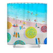 Beach Painting - Lazy Lingering Days Shower Curtain