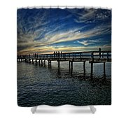Beach Pier Shower Curtain