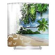 Beach Puzzle Shower Curtain