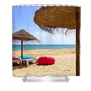 Beach Relaxing Shower Curtain by Carlos Caetano