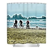 Beach Ride Shower Curtain